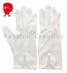 選挙用&礼装用・綿スムスホック付き手袋