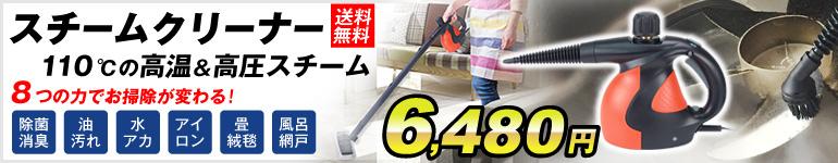 スチームクリーナー6480円 最安値に挑戦!