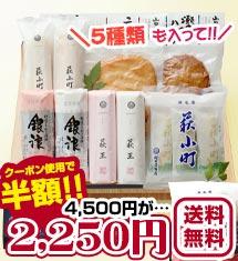 山口県産蒲鉾5種入ったギフトセット1415g