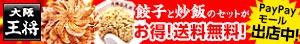 大阪王将の餃子と炒飯のセットが特価!送料無料!